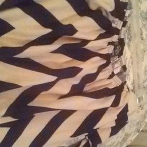 Chevron print off shoulder dress